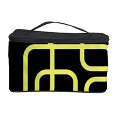 Yellow And Black Decorative Design Cosmetic Storage Case by Valentinaart