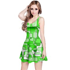 Green Decorative Abstraction  Reversible Sleeveless Dress by Valentinaart