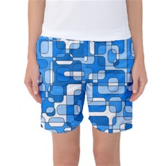 Blue Decorative Abstraction Women s Basketball Shorts by Valentinaart