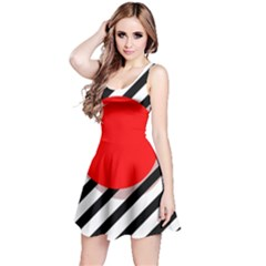Red Ball Reversible Sleeveless Dress by Valentinaart