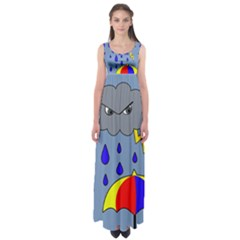Rainy Day Empire Waist Maxi Dress by Valentinaart