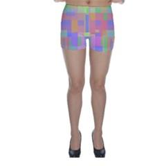 Pastel Decorative Design Skinny Shorts by Valentinaart