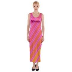 Pink Elegant Lines Fitted Maxi Dress by Valentinaart