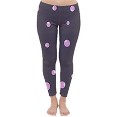 Pink Bubbles Winter Leggings  by Valentinaart
