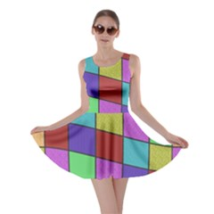 Colorful Cubes  Skater Dress by Valentinaart