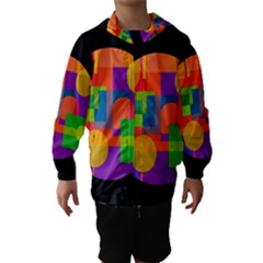 Colorful Circle  Hooded Wind Breaker (kids) by Valentinaart