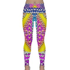 Music Tribute In The Sun Peace And Popart Yoga Leggings by pepitasart