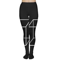 Simple Cube Women s Tights by Valentinaart