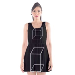 Simple Cube Scoop Neck Skater Dress by Valentinaart
