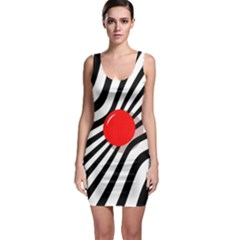 Abstract Red Ball Sleeveless Bodycon Dress by Valentinaart
