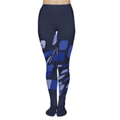 Blue Abstraction Women s Tights by Valentinaart