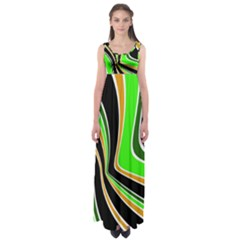 Colors Of 70 s Empire Waist Maxi Dress by Valentinaart