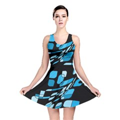 Blue Abstraction Reversible Skater Dress by Valentinaart