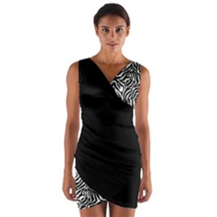 Zebra 01 Wrap Front Bodycon Dress