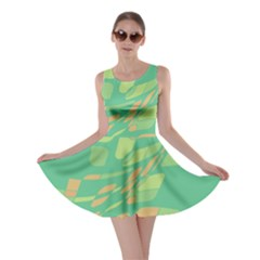 Green Abastraction Skater Dress by Valentinaart