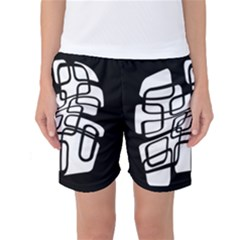White Abstraction Women s Basketball Shorts by Valentinaart