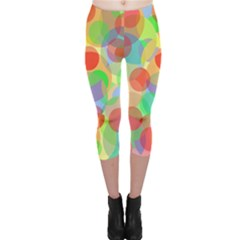 Colorful Circles Capri Leggings  by Valentinaart