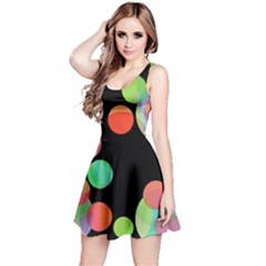 Colorful Circles Reversible Sleeveless Dress by Valentinaart