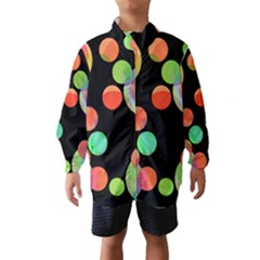 Colorful Circles Wind Breaker (kids) by Valentinaart