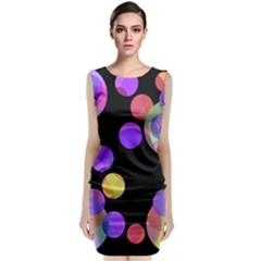 Colorful Decorative Circles Classic Sleeveless Midi Dress by Valentinaart