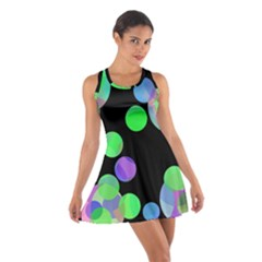 Green Decorative Circles Racerback Dresses by Valentinaart