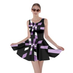 Purple Abstraction Skater Dress by Valentinaart