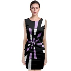 Purple Abstraction Classic Sleeveless Midi Dress by Valentinaart
