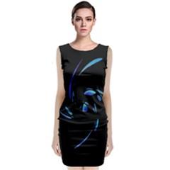 Blue Twist Classic Sleeveless Midi Dress by Valentinaart