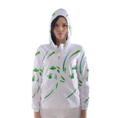 Green Twist Hooded Wind Breaker (women) by Valentinaart
