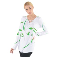 Green Twist Women s Tie Up Tee by Valentinaart