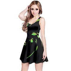 Green Twist Reversible Sleeveless Dress by Valentinaart