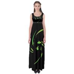 Green Twist Empire Waist Maxi Dress by Valentinaart