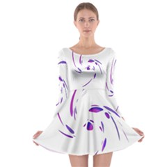 Purple Twist Long Sleeve Skater Dress by Valentinaart