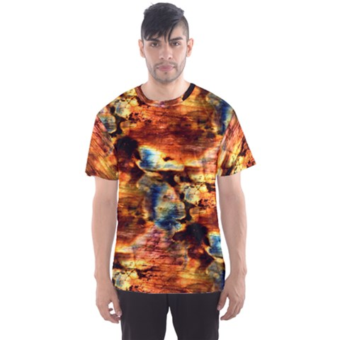 Natural Sunset Happy Mother Earth Men s Sport Mesh Tee by Contest2387402