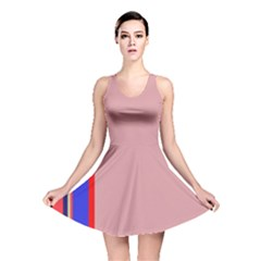 Pink Elegant Lines Reversible Skater Dress by Valentinaart