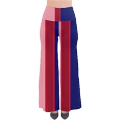 Pink And Blue Lines Pants by Valentinaart
