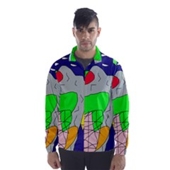 Crazy Abstraction Wind Breaker (men) by Valentinaart