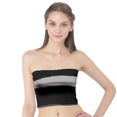 Black And Gray Design Tube Top by Valentinaart