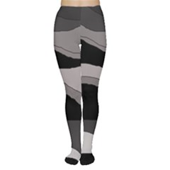 Black And Gray Design Women s Tights by Valentinaart
