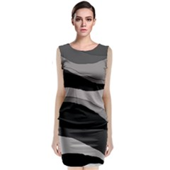 Black And Gray Design Classic Sleeveless Midi Dress by Valentinaart