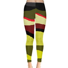 Decorative Abstract Design Leggings  by Valentinaart