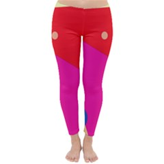Colorful Abstraction Winter Leggings  by Valentinaart