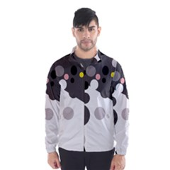 Gray, Yellow And Pink Dots Wind Breaker (men) by Valentinaart