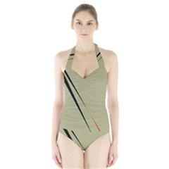 Elegant Lines Halter Swimsuit by Valentinaart