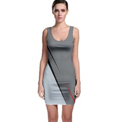 Elegant Gray Sleeveless Bodycon Dress by Valentinaart