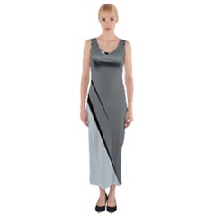 Elegant Gray Fitted Maxi Dress by Valentinaart