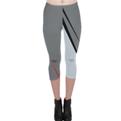Elegant Gray Capri Leggings  by Valentinaart