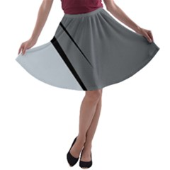 Elegant Gray A Line Skater Skirt by Valentinaart