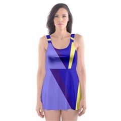 Geometrical Abstraction Skater Dress Swimsuit by Valentinaart