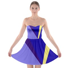 Geometrical Abstraction Strapless Dresses by Valentinaart